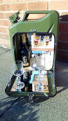 Green jerry can bar /mini bar/ camping / drinks carrier / stag / man cave