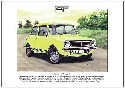 MINI 1275GT 1969-80 - Fine Art Print - A4 size - British Leyland 1970's city car