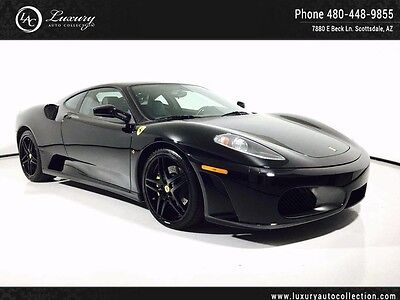 2005 Ferrari 430 Base Coupe 2-Door CARBON_BLACK GLOSS WHEELS_YELLOW CALIPERS_WHITE STITCHING_F1_SERVICED