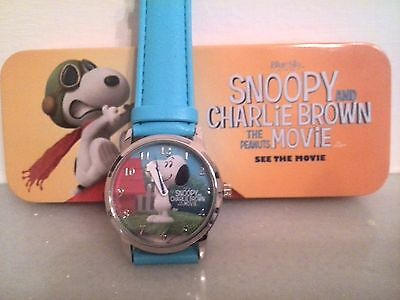 Reloj Watch Snoopy And Charlie Brown-The Peanuts Movie in Box