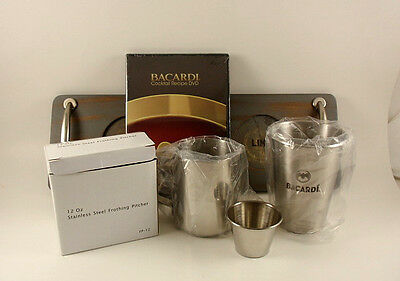 BACARDI Deluxe  5 Piece Cuba Libre Drink Set Tray Pitcher Shaker Video