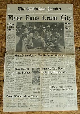 Philadelphia Flyers 1974 Stanley Cup Champions Parade Newspaper Pages~Parent