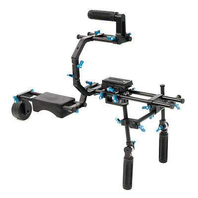 Gorilla Film Gear Complete Shoulder Rig Camera Support Stabilizer for DSLR Video