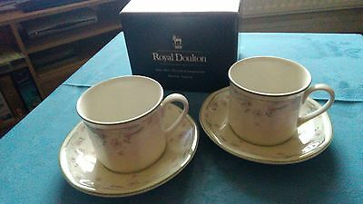 Royal Doulton Caprice 2 cups and saucers. Boxed and New