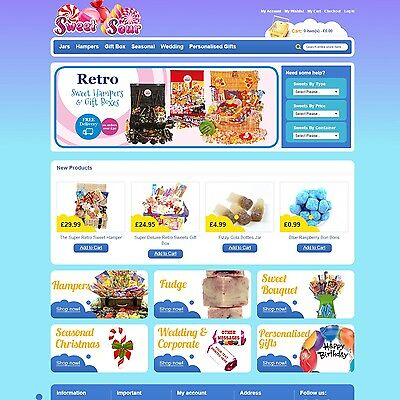 SweetSour.co.uk - Website Internet Business For Sale Sweet Shop Candy Chocolate