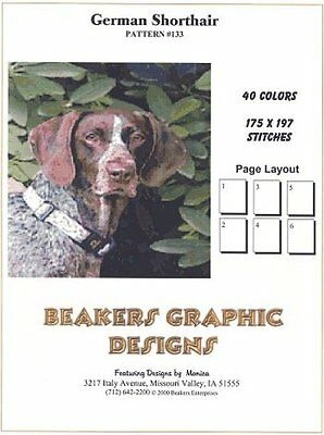 GERMAN SHORTHAIR POINTER Counted Cross Stitch detailed #0133