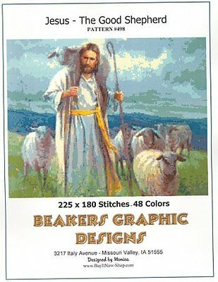 JESUS The Good Shepherd Counted Cross Stitch detailed #0498