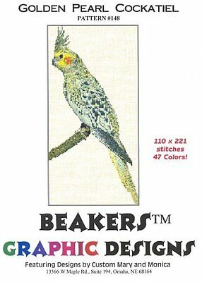 COCKATIEL - GOLDEN PEARL Counted Cross Stitch detailed #0148