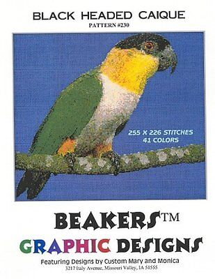 CAIQUE BLACK HEADED Counted Cross Stitch detailed #0230
