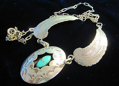 Beautiful Sterling & Turquoise Necklace