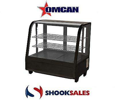Omcan 27155 RTW-100L 27' All Black Counter top Commercial Refrigerated Showcase