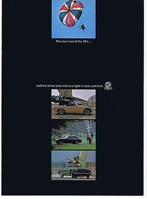 1970 Advertisement - 3 Page Foldout - MGB ''70, MGB/GT '70, MG MIDGET '70