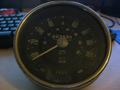 Early Triumph Herald Smiths Speedo Gauge SN 4421/00 (8) ORIGINAL and drive cable