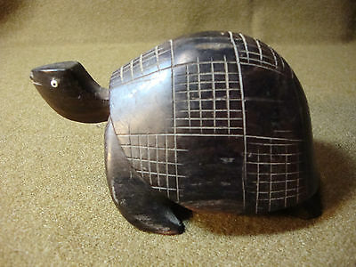 Hand Carved Decorative Turtle, Wood