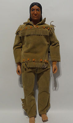 The Lone Ranger : Tonto Action Figure Made By Gabriel In 1973 (Sk)