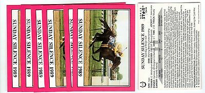 1X SUNDAY SILENCE 1990 Star KENTUCKY DERBY #115 Horse Racing Lots Available NRMT