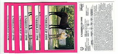 1X UNBRIDLED 1990 Star KENTUCKY DERBY #R116 Horse Racing Lots Available NRMT