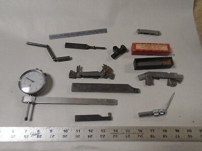 MACHINIST TOOLS LATHE MILL Machinist Lot of Gage Parts Indicator Gauges Etc