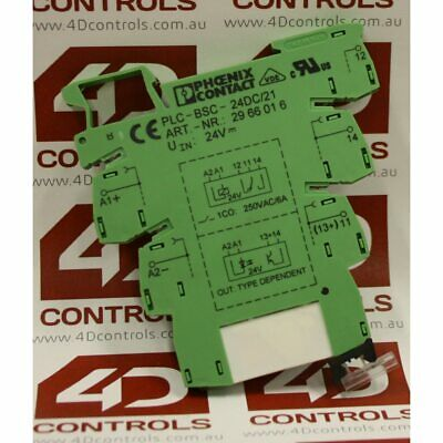 Phoenix Contact PLC-BSC-24DC/21 PLC Terminal Block with relay - Used