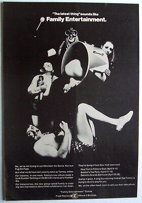 FAMILY 1969 Poster Ad FAMILY ENTERTAINMENT roger chapman