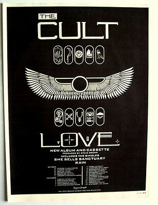 THE CULT 1985 poster type Advert LOVE