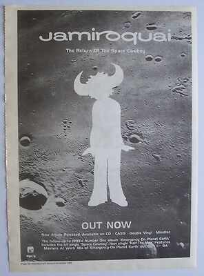 JAMIROQUAI 1994 Poster Ad THE RETURN OF THE SPACE COWBOY