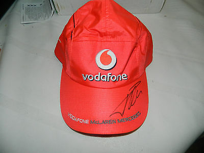 F1 Fernando Alonso Signed Vodafone Cap Hand Signed In Person