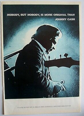 JOHNNY CASH 1969 Poster Ad SAN QUENTIN saul holiff
