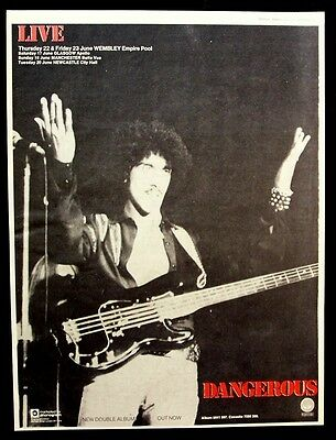 THIN LIZZY 1978 Poster Ad LIVE AND DANGEROUS phil lynott