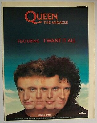 QUEEN 1989 Poster Ad THE MIRACLE