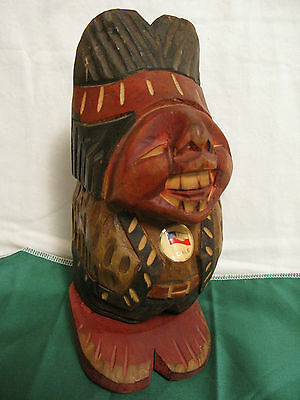 NAUGHTY Folk Art WOOD CARVING Erotic RISQUE Carved Man~Old Penis Gag