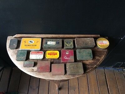 Tin Collection, Tobacco Tins, Rusty Goodness, 15 Tins Total