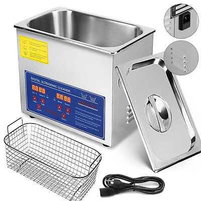 Stainless Steel 3L Industry Heated Ultrasonic Digital Cleaner Heater Timer New