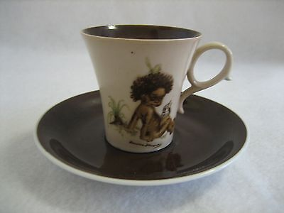 Brownie Downing - Japanese - Small Teacup & Saucer