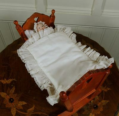 Wonderful HTF Tiny Wendy Lawton Antique Repro Bye-Lo Bisque Head Baby Doll & Bed