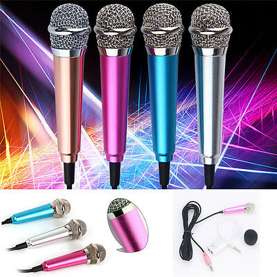 3.5mm Mini Stereo Studio Speech Microphone Mic For iPhone PC Laptop Skype MSN B