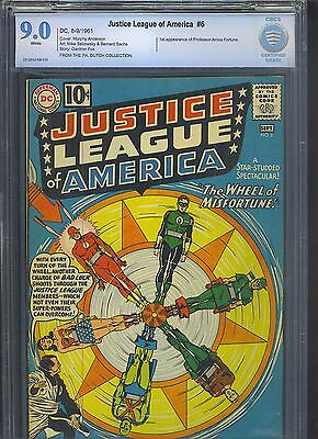 JUSTICE LEAGUE OF AMERICA #6 CBCS VF/NM 9.0; White Pg!; 1st app Prof. Fortune!