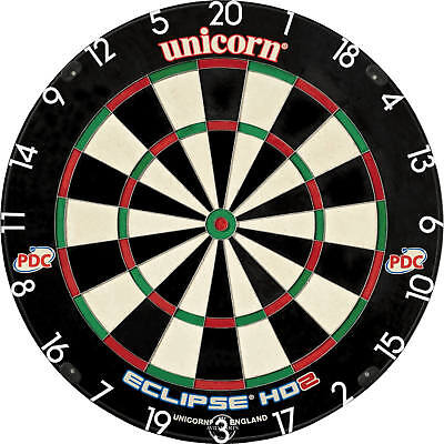 NEW Unicorn Eclipse HD2 Dartboard - Seen in all PDC televised tournaments on FOX