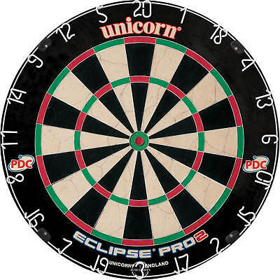 NEW Unicorn Eclipse PRO 2 Dartboard, Competition Quality, Endorsed by the PDC