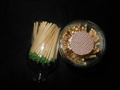 Apothecary Matchstick Bottle from POTTERY BARN NEW $25 GREEN MATCHES FREE SHIP