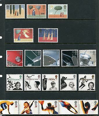 GB Great Britain 1996 Commemorative Sets - 9 Sets, 43 Stamps, NH UMM