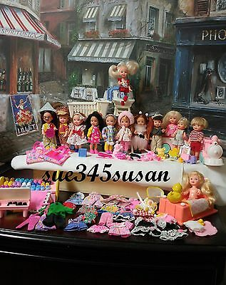 Vintage Barbie Kelly Doll, Clothes,Shoes, furniture, Kelly Train, Acc - Huge Lot