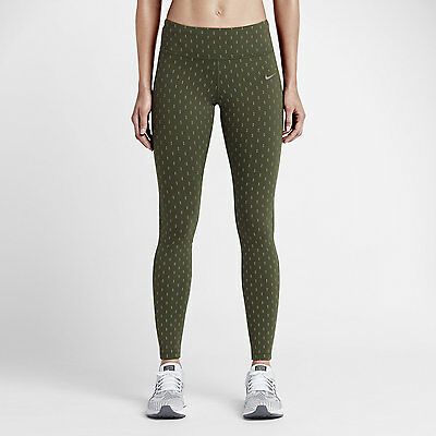 Nike Women's Epic Lux Flash Running Tights Olive 687012 325 Size Small (S) NWT