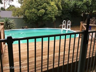 Swimming Pool Above Ground 6.3 x 3.8 x 1.2m + 19m of pool fencing