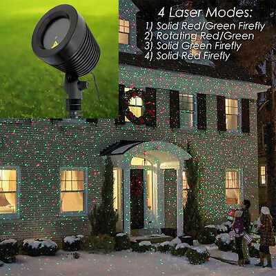 New! Xl Waterproof Outdoor Laser Light Projector Show - Red/green Xmas/holiday