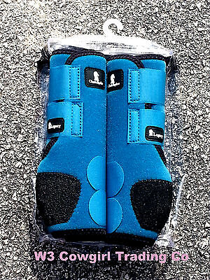 New Classic Equine Front Legacy System Boots Teal S,M,L