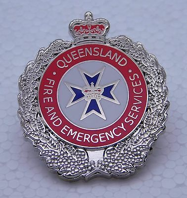 Queensland Fire & Emergency Services Lapel Pin Not Police Medical Rescue