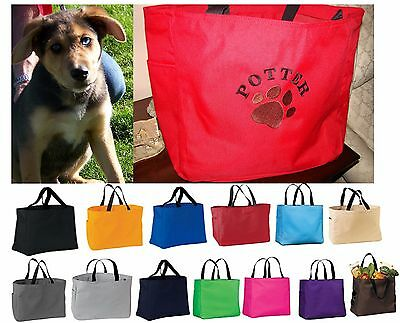 Personalized Tote Bag, Dog lover Gift, Cat, Pet, Dog Bag with Name