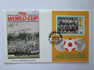 Official Uruguay 1986 Fifa World Cup In Mexico Postal Cover With Stamps