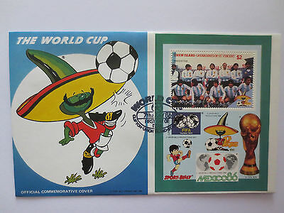 Argentina Official 1986 Mexico Fifa World Cup Postal Cover With Stamps
